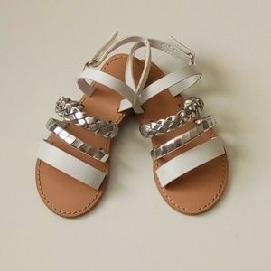 Crazy 8 Girls Sandal Silver/White